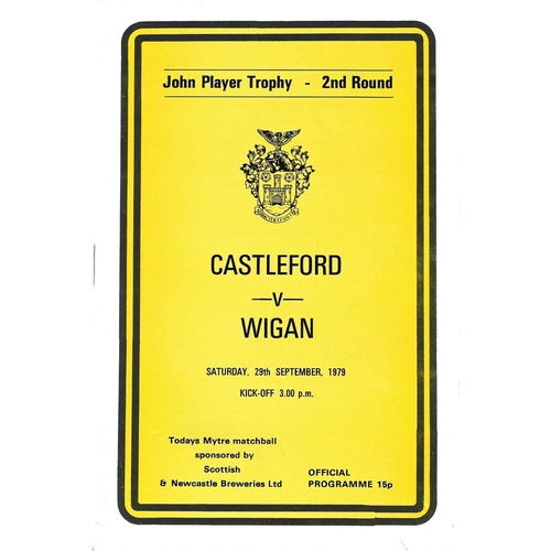 1979/80 Castleford v Wigan John Player Trophy 2nd Round Rugby League Programme