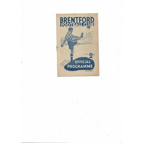 1946/47 Brentford v Manchester United Football Programme