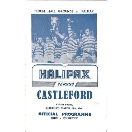 Halifax Home Rugby League Programmes