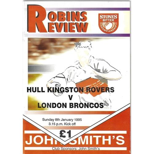 London Crusaders/London Broncos Away Rugby League Programmes