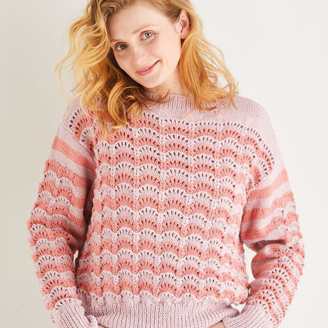 Lacy Sweater Pattern 10196
