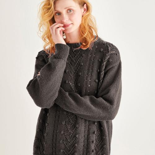 Textured Sweater Pattern 10197