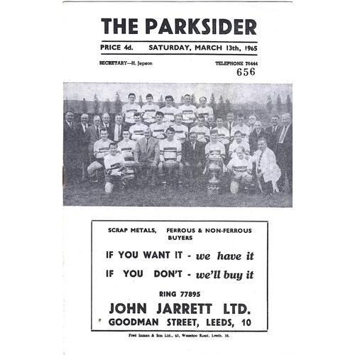 1964/65 Hunslet v Leeds Rugby League Challenge Cup 3rd Round Programme