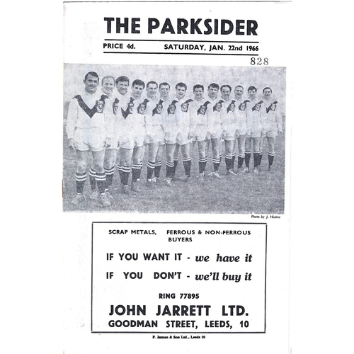 1965/66 Hunslet v Keighley Rugby League Programme
