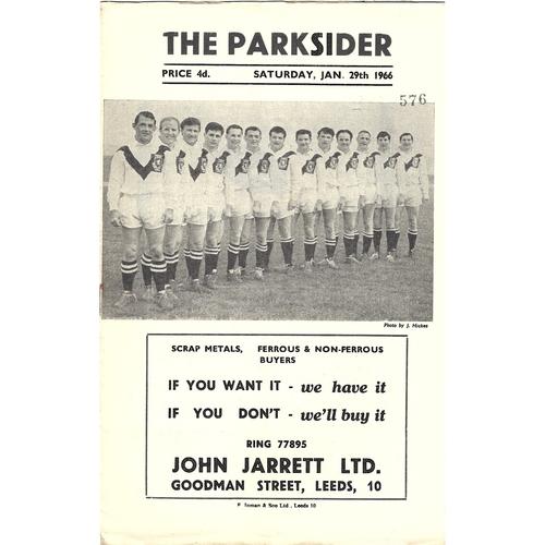 1965/66 Hunslet v York Rugby League Programme