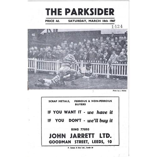 1966/67 Hunslet v Bradford Northern Rugby League Programme
