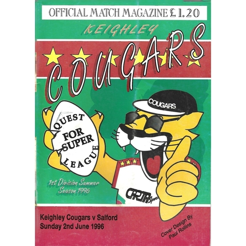 1996 Keighley Cougars v Salford Rugby League Programme