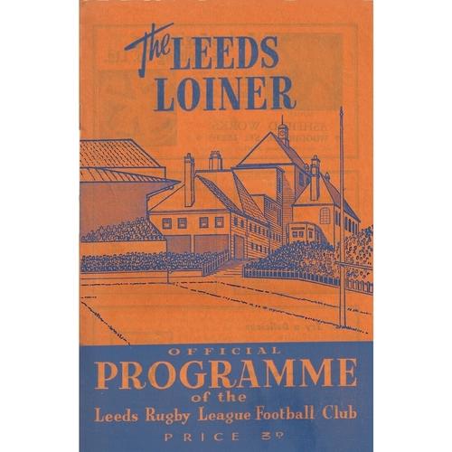 Leeds/Leeds Rhinos Home Rugby League Programmes
