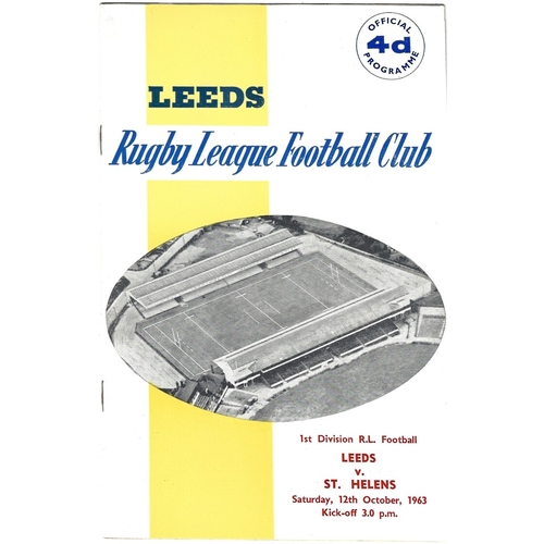 1963/64 Leeds v St. Helens Rugby League Programme