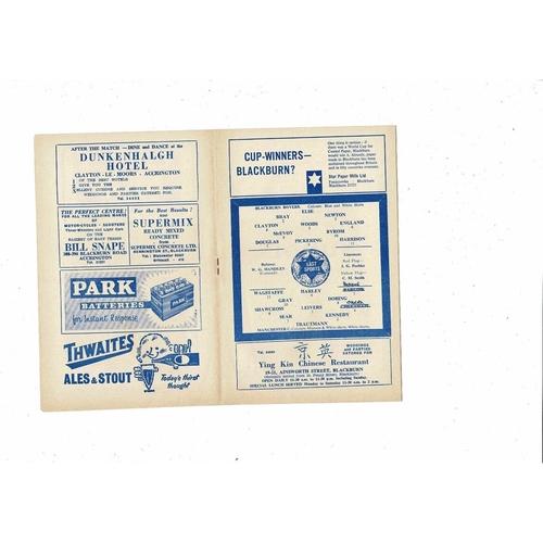 1962/63 Blackburn Rovers v Manchester City Football Programme +Press Cutting May