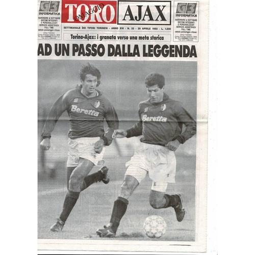 1992 Torino v Ajax UEFA Cup Final Football Programme