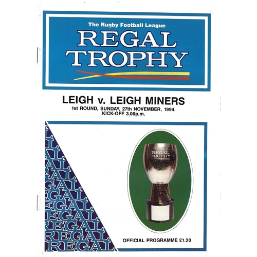 Leigh Miners Away Rugby League Programmes