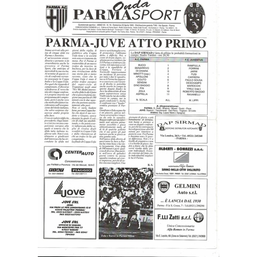 1995 Parma v Juventus UEFA Cup Final Football Programme Sport Edition