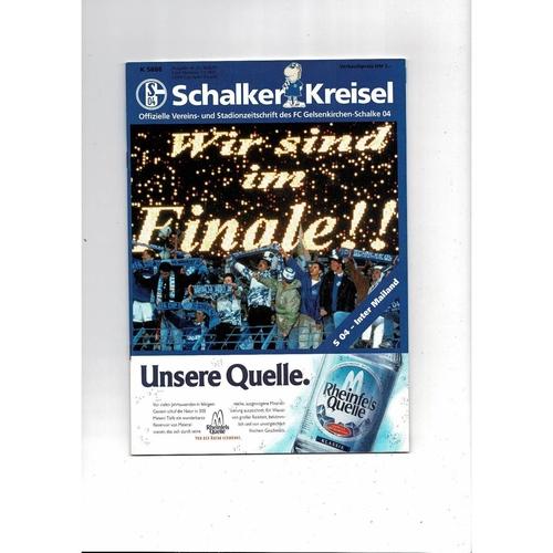 1997 Schalke v Inter Milan UEFA Cup Final Football Programme
