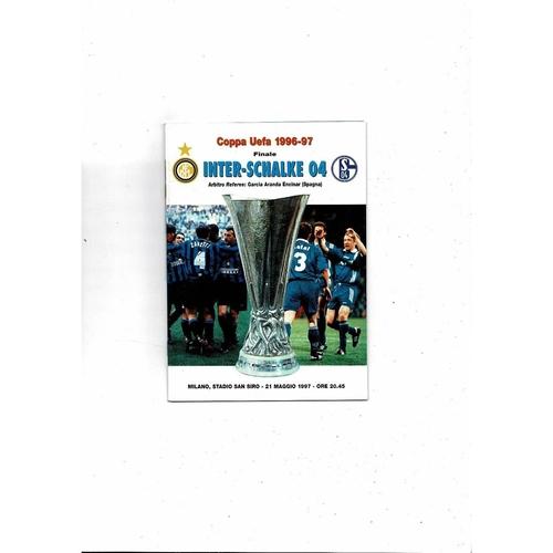 1997 Inter Milan v Schalke UEFA Cup Final Football Programme