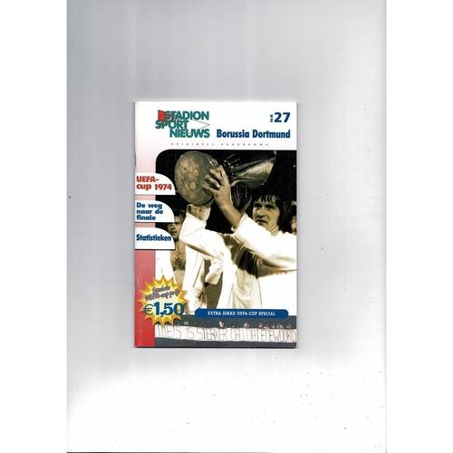 2002 Feyenoord v Borussia Dortmund UEFA Cup Final Football Programme Feyenoord Edition