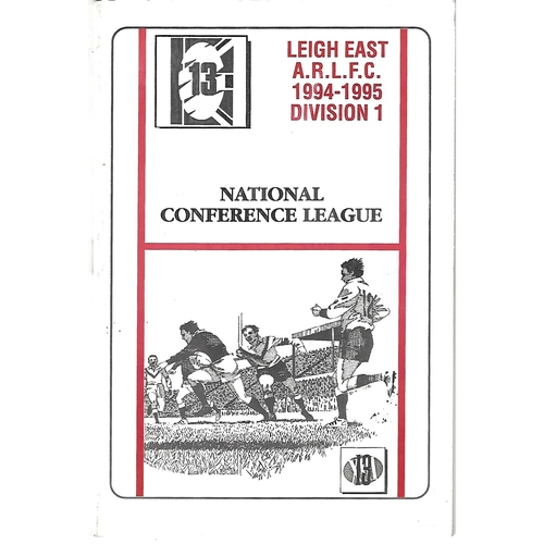 Lock Lane Away Rugby League Programmmes