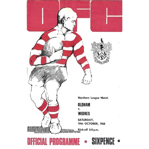1968/69 Oldham v Widnes Rugby League Programme
