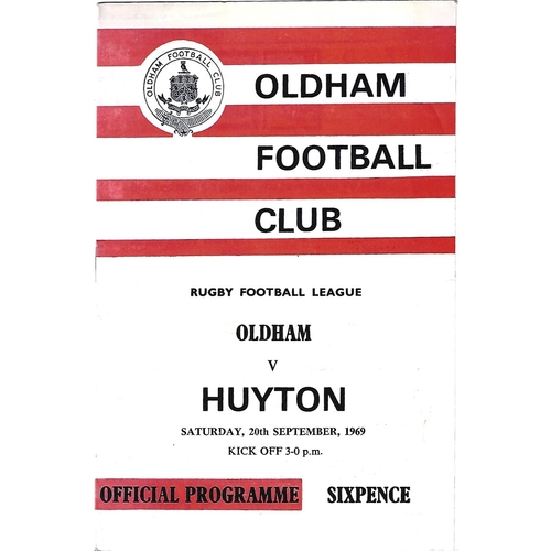 1969/70 Oldham v Huyton Rugby League Programme