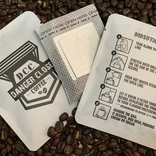 10 individual single cup drip coffee bags