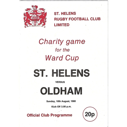1980/81 St. Helens v Oldham Rugby League Programme