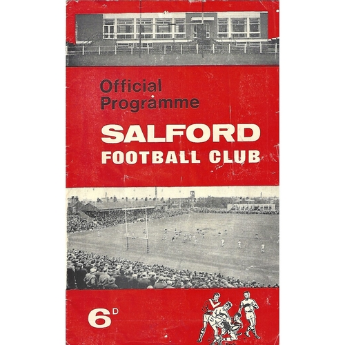 1967/68 Salford v Oldham Rugby League Programme