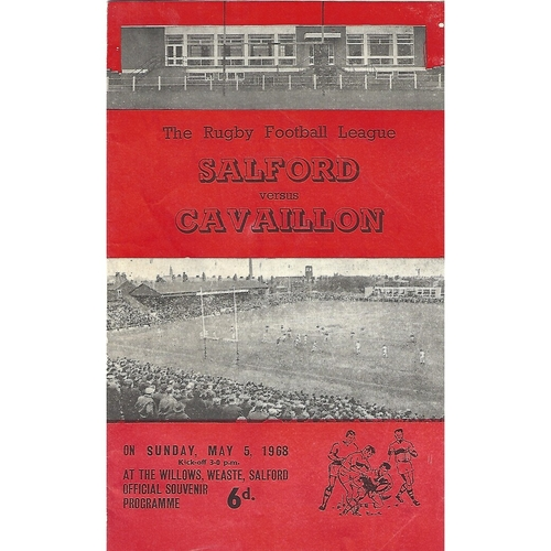 1967/68 Salford v Cavaillon Rugby League Programme