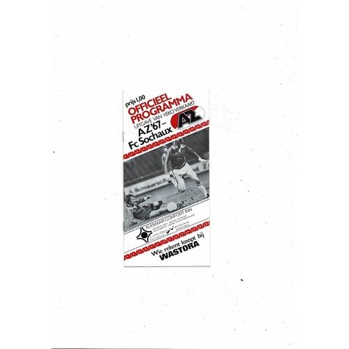 1981 AZ67 v Sochaux UEFA Fairs Cup Semi Final Football Programme