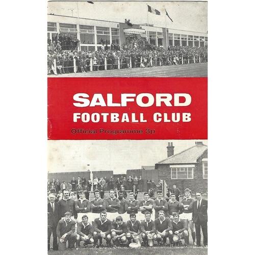 1970/71 Salford v Warrington Rugby League Programme