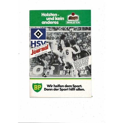 1982 Hamburg v Radnicki UEFA Fairs Cup Semi Final Football Programme