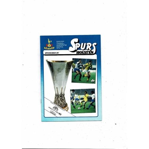 1984 Tottenham Hotspur v Hajduk Split UEFA Fairs Cup Semi Final Football Programme 1984