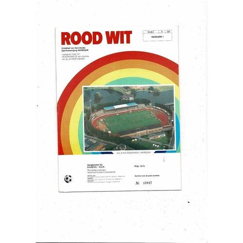 1986 Waregem v Koln UEFA Fairs Cup Semi Final Football Programme