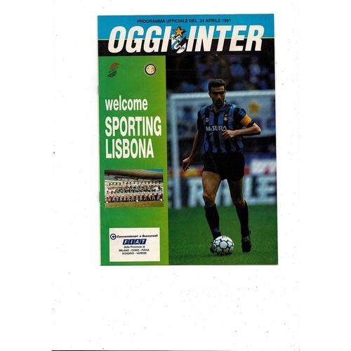 1991 Inter Milan v Sporting Lisbon UEFA Fairs Cup Semi Final Football Programme