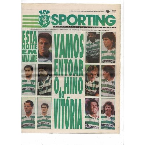 1991 Sporting Lisbon v Inter Milan UEFA Fairs Cup Semi Final Newspaper Edition Football Programme