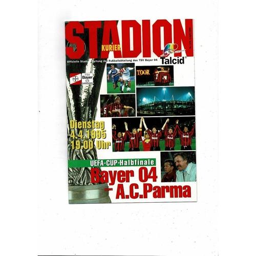1995 Bayer Leverkusen v Parma UEFA Fairs Cup Semi Final Football Programme