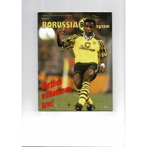 1995 Borussia Dortmund v Juventus UEFA Fairs Cup Semi Final Football Programme