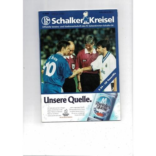 1997 Schalker v Tenerife UEFA Fairs Cup Semi Final Football Programme