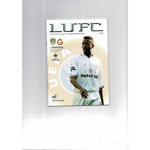 2000 Leeds United v Galatasaray UEFA Fairs Cup Semi Final Football Programme