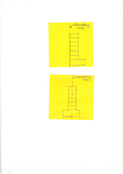 Advantages and disadvantages of building a wall astride the boundary.