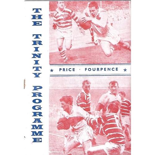 1963/64 Wakefield Trinity v Swinton Rugby League Programme