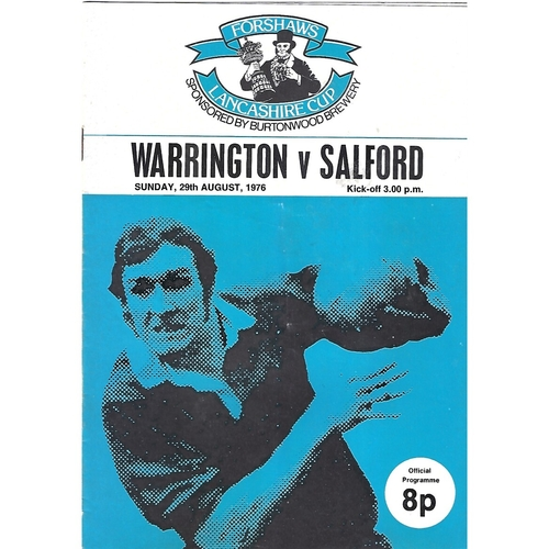 Salford/Salford Reds/Salford City Reds/Salford Red Devils Away Rugby League Programmes