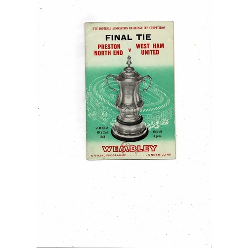 1964 Preston v West Ham United FA Cup Final Football Programme.