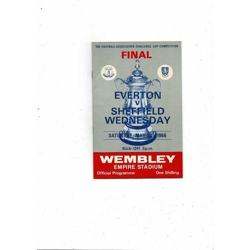 1966 Everton v Sheffield Wednesday FA Cup Final Football Programme