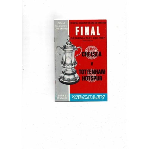 1967 Chelsea v Tottenham Hotspur FA Cup Final Football Programme