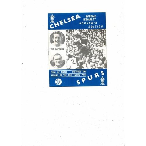 1967 Chelsea v Tottenham Hotspur FA Cup Final Wembley Souvenir Edition Programme