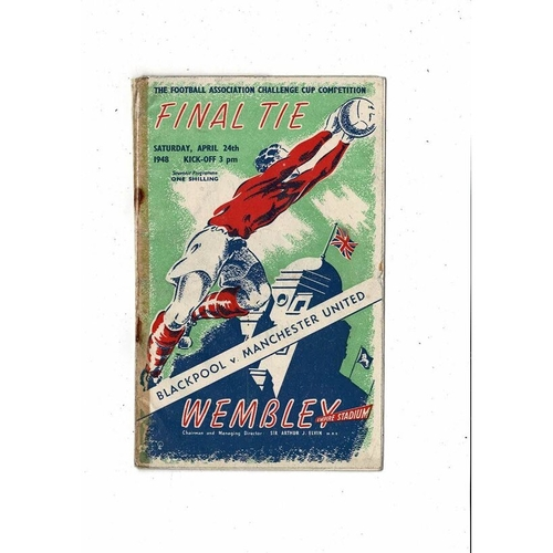 1948 Blackpool v Manchester United FA Cup Final Football Programme