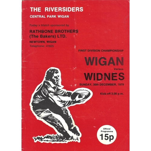 1979/80 Wigan v Widnes Rugby League Programme