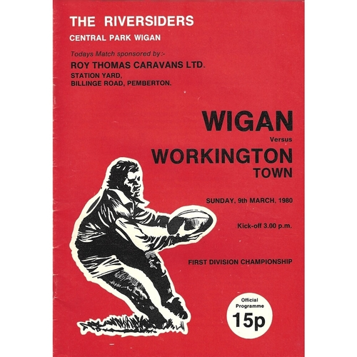 1979/80 Wigan v Workington Town Rugby League Programme