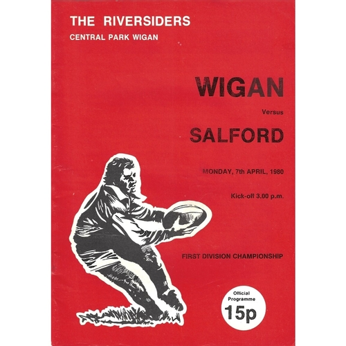 1979/80 Wigan v Salford Rugby League Programme