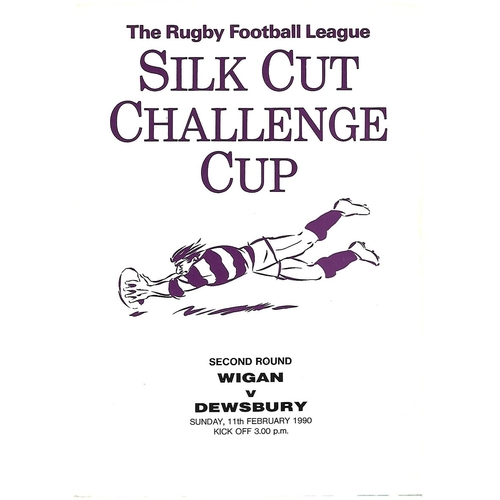 1989/90 Wigan v Dewsbury Rugby League Challenge Cup 2nd Round Programme